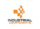 Industrie, Technologie, Komponenten Logo