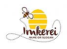 Logo f�r Imker, Imkerei, Honig