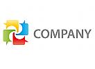 Vier Sprechblasen Logo