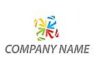 Vier Pfeile, farbig Logo