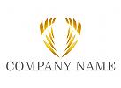 Zwei Flügel, Wappen, Versicherungen,  Logo