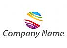 Zeichen, Skizze, Kreis, farbig, Maler Logo