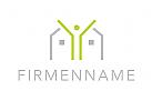 Logo, Mensch, Haus, Immobilie