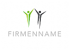 Logo, Menschen, Paar, Abstrakt