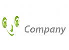 Gesicht und L�cheln Logo