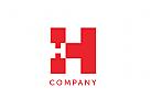 Modernes Logo, Buchstaben HH