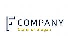 Modernes Logo, Buchstabe F