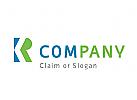 Modernes Logo, Buchstabenkombination KR oder RK