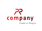 Modernes Logo, Buchstabenkombination PR