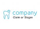 Modernes Logo, Zahnarzt, Zahnmedizin, Dental, Dentallabor