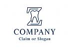 Modernes Logo, Zahnarzt, Zahnmedizin, Dental, Dentallabor, Buchstabe Z