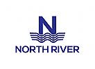 Wasser, Fluss, Klempner Logo