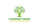 Natur, Gr�n, Menschen, Baum Logo