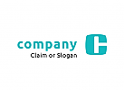 Modernes Logo, Buchstabenkombination C und H