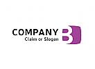 Modernes Logo, Buchstabe B
