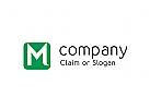 Modernes Logo, Buchstabe M
