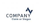 Modernes Logo, Buchstabenkombination AV