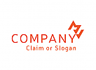 Modernes Logo, Buchstabenkombination MV