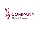 Modernes Logo, Hand