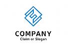 Modernes Logo, Buchstabenkombination EE