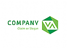 Modernes Logo, Buchstabenkombination VA