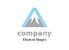 Modernes Logo, Buchstabe A, Berg