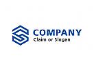 Modernes Logo, Buchstabenkombination GS oder SG