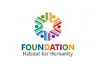 Gruppe Logo, Menschen, Familie Pflege