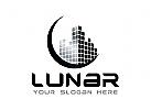 Monat Logo, Immobilien, digital