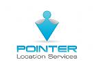 Route, Karte, Punkt Logo