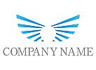 Wappen, Flügel in blau Logo