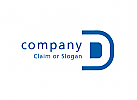 Modernes Logo, Buchstabe D
