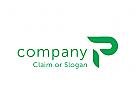Modernes Logo, Buchstabe P