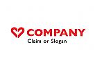 Modernes Logo, Herz, Dating
