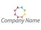 Ökologie, Zeichen, Zeichnung, Team, Gruppe, Menschen, farbig, Logo