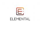 Buchstabe E Logo