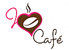 logo cafe, logo button