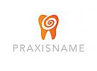 Ökozähne, Zähne, Zahnärzte, Zahnarztpraxis, Logo, Zahn, Spirale