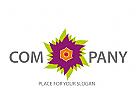 Logo abstrakte Blume