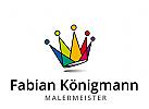 Logo Krone mit Farbspektrum