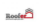 Dachdecker, Immobilien Logo