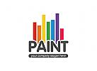 Malerei, Haus, Maler Logo