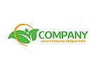 Blatt, Natur, organisch, vegetarisch Logo