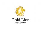 L�we, Gold, Lion, Reichtum, Bankwesen, Finanzen Logo