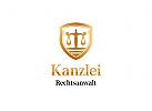 Ö Rechtsanwalt, Richter, Gericht, Kanzlei Logo