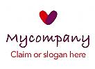 Logo Herz bestehend aus zwei Teile, Fingern�geln, Fingerabdr�cke