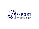 Pfeile Logo, Richtung, Import, Export, Transaktionen