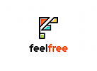 Buchstabe F Logo