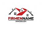 Ö, Immobilien, Dach, Dachdecker, Haus, Dekor, Wohnung, rot Logo