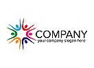 Menschen Logo, Gruppen, Organisationen, Pflege